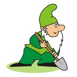 Elf and spade Stock Images