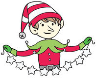 Elf with Stars Royalty Free Stock Photography