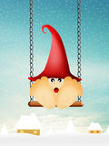 Elf on the swing Royalty Free Stock Images
