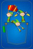 Elf throwing Gifts Royalty Free Stock Images