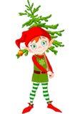 Elf und Baum Lizenzfreies Stockfoto