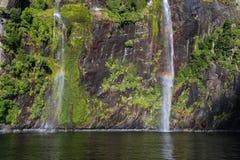 Elf und Feen-Wasserfall, Milford Sound Lizenzfreie Stockfotografie