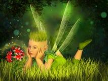Elf w czarodziejskim lesie Zdjęcia Royalty Free