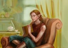 Elf w domu Obraz Royalty Free