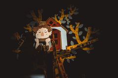Elf w drzewie obraz royalty free