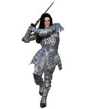 Elf Warrior - Attacking Stock Images