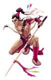 Elf warrior character Stock Photo