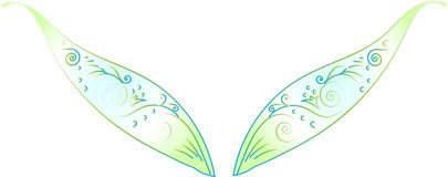 Elf wings. Elf  fairy patterned delicate openwork wings Stock Image