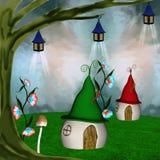Elf wioska royalty ilustracja
