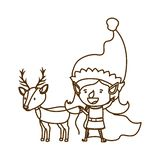 Elf woman with reindeer avatar character. Vector illustration design vector illustration