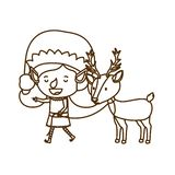 Elf woman with reindeer avatar character. Vector illustration design royalty free illustration