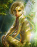Fantasy Elf in the Forest Royalty Free Stock Photos