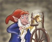 Elf working- fairy tales Stock Photos