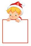Elf z wiadomością Zdjęcia Stock