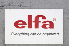 Elfa logo on a wall Stock Photo