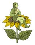 elfa tambourine ilustracja wektor