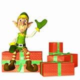 Elfe avec des présents Image stock