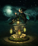 Elfe bleu de capot illustration de vecteur