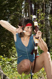 Elfe dans la chasse Photographie stock