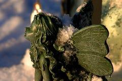 Elfe dans la neige Images libres de droits