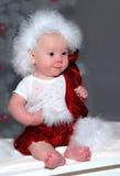 Elfe de la chéri de Santa Image libre de droits