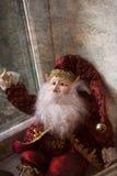 Elfe de Noël avec la barbe Images libres de droits