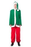 Elfe de Noël, d'isolement sur le fond blanc Photos stock