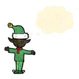 elfe de Noël de bande dessinée Images libres de droits