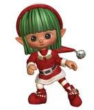 Elfe de Noël de danse Photos libres de droits