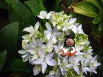 Elfe in der Blume Lizenzfreie Stockbilder