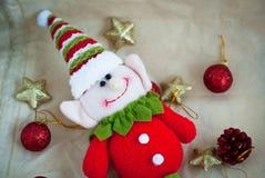 Elfe mignon de Noël Photo stock
