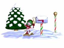 Elfe mignon de Noël Photos libres de droits