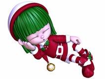 Elfe mignon de Noël Photo libre de droits