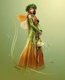 Elfe profond de forêt illustration stock