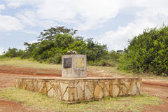 Elfenbein-brennender Standort, Kenia, redaktionell Stockbilder