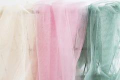 Elfenbein-, rosa und Grünestulle stockbild