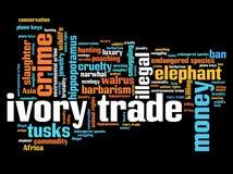 Elfenbenhandel Arkivbild