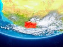 Elfenbenskusten på jordklotet från utrymme Royaltyfri Bild