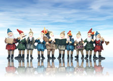 Elfes de musique à Noël Photos libres de droits