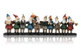 Elfes de musique à Noël Images libres de droits
