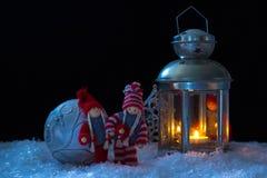 Elfes de Noël Photographie stock
