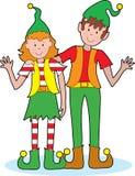 Elfes de Noël Image libre de droits