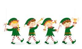 Elfes de Noël Images libres de droits