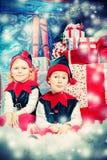 Elfes heureux Photographie stock libre de droits