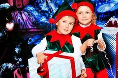 Elfi dei bambini Fotografia Stock Libera da Diritti