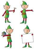 Elfi di festa Fotografia Stock