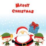 ELFI di Santa With illustrazione di stock