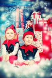 Elfi felici Fotografia Stock Libera da Diritti