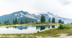 Elfin lake and Mt Garibaldi Royalty Free Stock Image