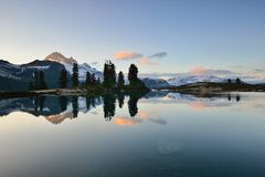 Elfin Lake Sunset Stock Photo